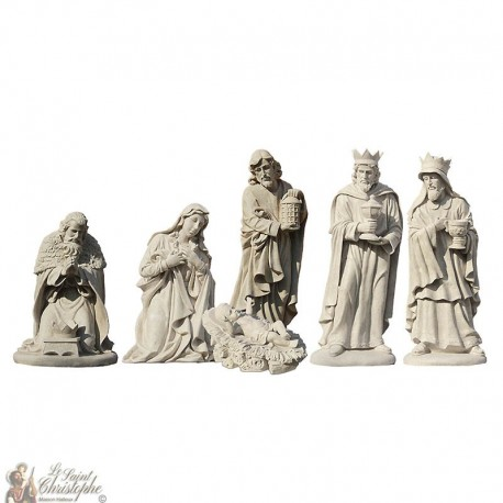 Weihnachtskrippe - Figuren 6 Stück