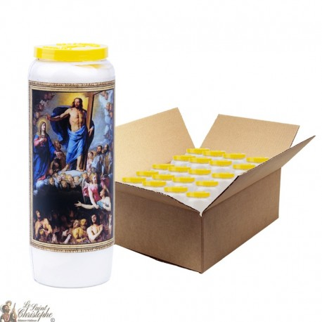 Bougies de Neuvaine aux Âmes du Purgatoire - 20 pièces