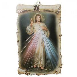 Cadre en bois mural du Christ Miséricordieux
