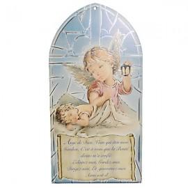 Cadre Ange avec prière - Protection bébé