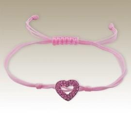 Bracelet cœur rose - Argent 925