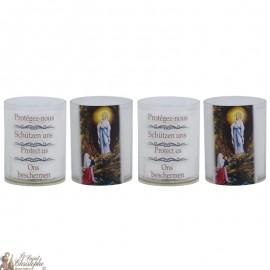 Bougies Veilleuses à Notre Dame de Lourdes - 4 pièces