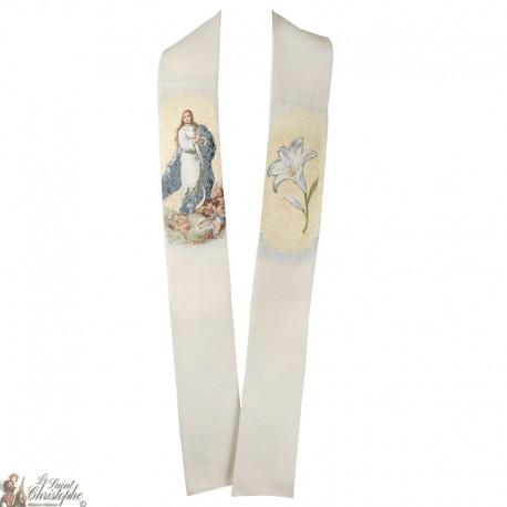 Misericordia embroidered priest stole