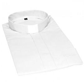 Chemise pour prêtre blanche manches courtes