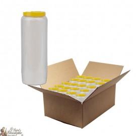 Bougie de neuvaine Blanche - carton 20 pièces